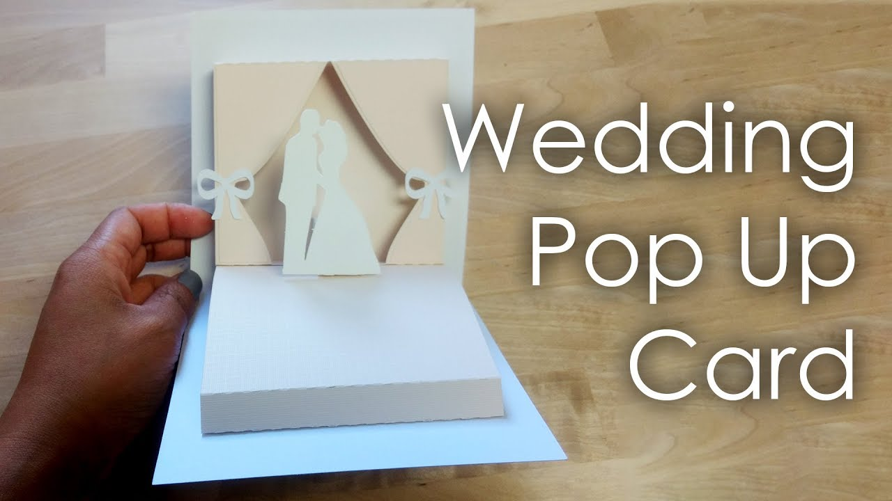Tutorial Template Diy Wedding Project Pop Up Card Youtube