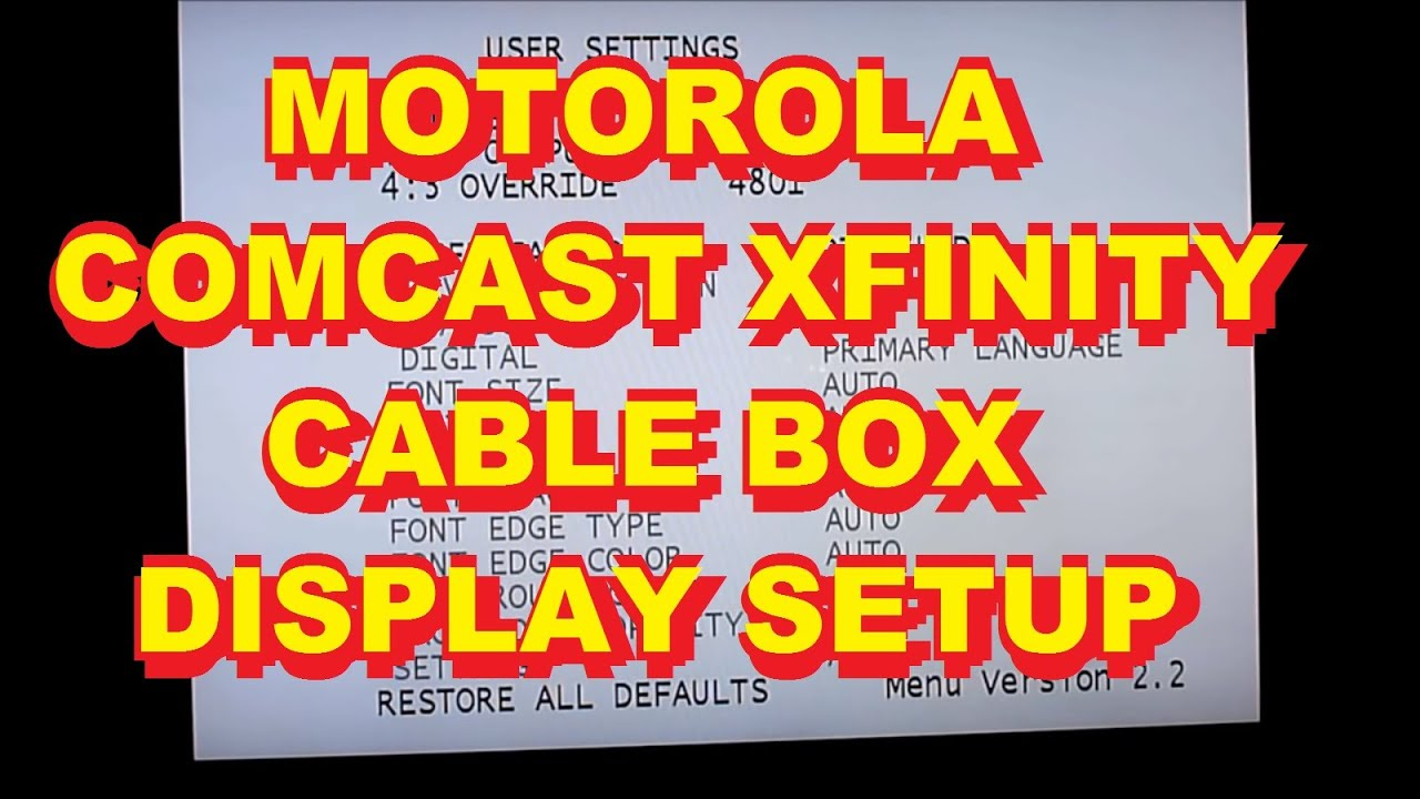 Xfinity Set Top Box Manufacturer