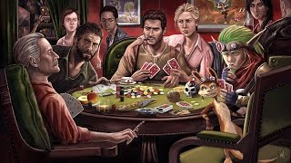 Naughty Dogs Playing Poker