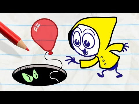 Pencilmate Tries To Be Funny -in- DARK SIDE OF THE BALLOON - Pencilmation Cartoons