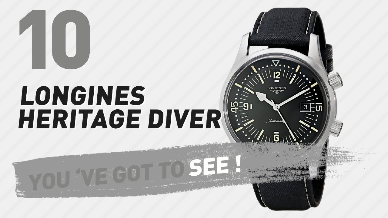 Top 10 Longines Heritage Diver  New u0026 Popular 2017