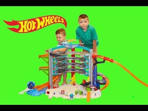 HOT WHEELS Ultimate Garage YouTube Kids Unboxing Video
