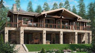 Свежий проект дома для семьи 2020 в стиле шале | Дом Шале | Стиль Шале | Ремстройсервис М-292