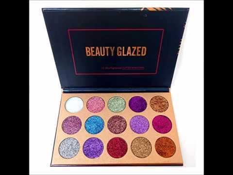 Beauty Glazed Eyeshadow Palette Ultra Pigmented Mineral Pressed Glitter Make Up Eye Shadow Powder Fl