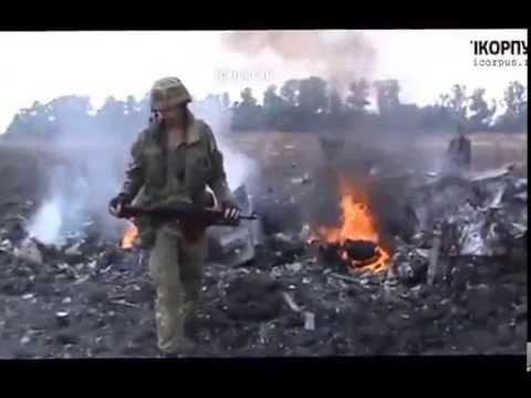 Один из двух сбитых СУ-25 силами ПВО ДНР с.Дмитровка 23.07.2014
