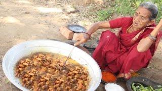 Grandma's Village Style Prawns Curry with Roti || Myna Street Food || Food Info