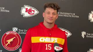 Patrick Mahomes discusses Lamar Jackson's success (NFL Week 13 2019)