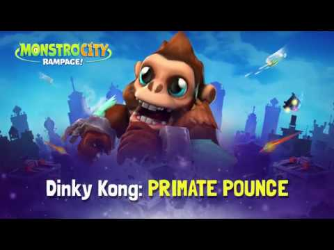 MonstroCity: Rampage! - How to Play - Dinky Kong: PRIMATE POUNCE
