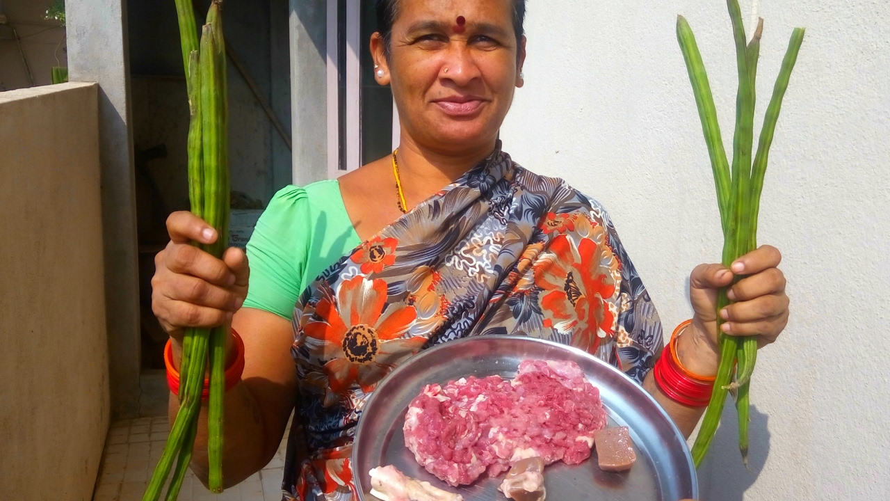 Amazing lamb meat recipe cooking in my village goat keema recipe amazing lamb meat recipe cooking in my village goat keema recipe 2017 indian food with drumstick youtube forumfinder Images