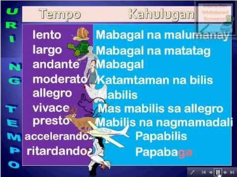 Ibatibang Uri ng Tempo  Interactive MSEPMusic Lesson Module