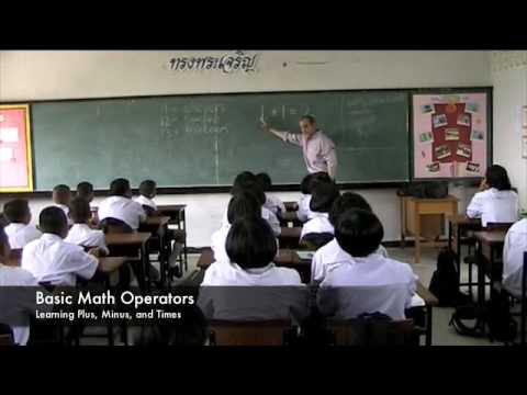 Numbers Lesson at a Thai School - Part 1