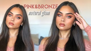 PINK BRONZE NATURAL GLAM MAKEUP TUTORIAL