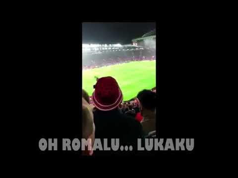 Man Utd fans new song for Romelu Lukaku last night. 😆