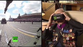 «Это чудо»: ветеран Великой Отечественной войны примерил очки 360