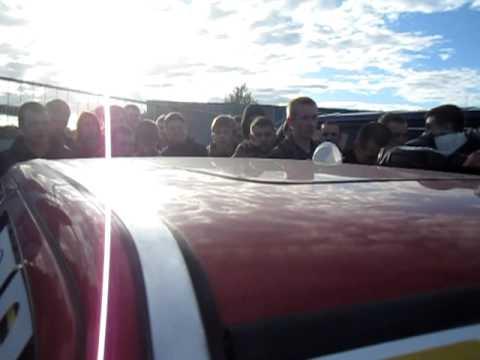 Аварию на жд переезде в Чкаловске заснял рег состава. Калининград. 08.02.17