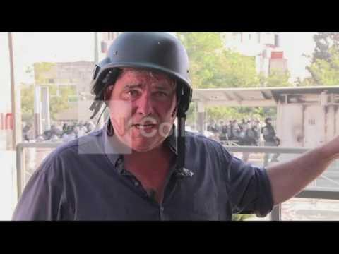 MIDEAST:RUBBER BULLET HITS CNN CORRESPONDENT