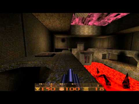 Quake 1 Walkthrough - E1M7 - The House of Chthon - Nightmare Difficulty [HD]