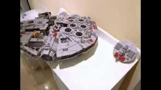 Building Lego 10179 Millennium Falcon Stop Motion