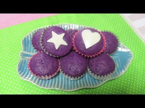 """Ube Puto"" (purple steamed rice cake)"