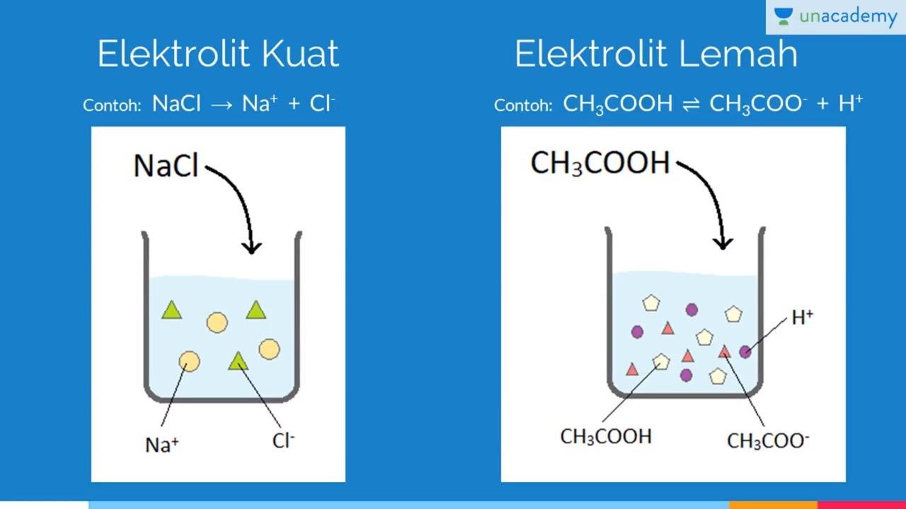 Elektrolit Kuat Dan Elektrolit Lemah Kimia Sbmptn Un Sma Youtube