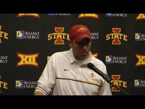 Matt Campbell- West Virginia post game interview 11/26/16