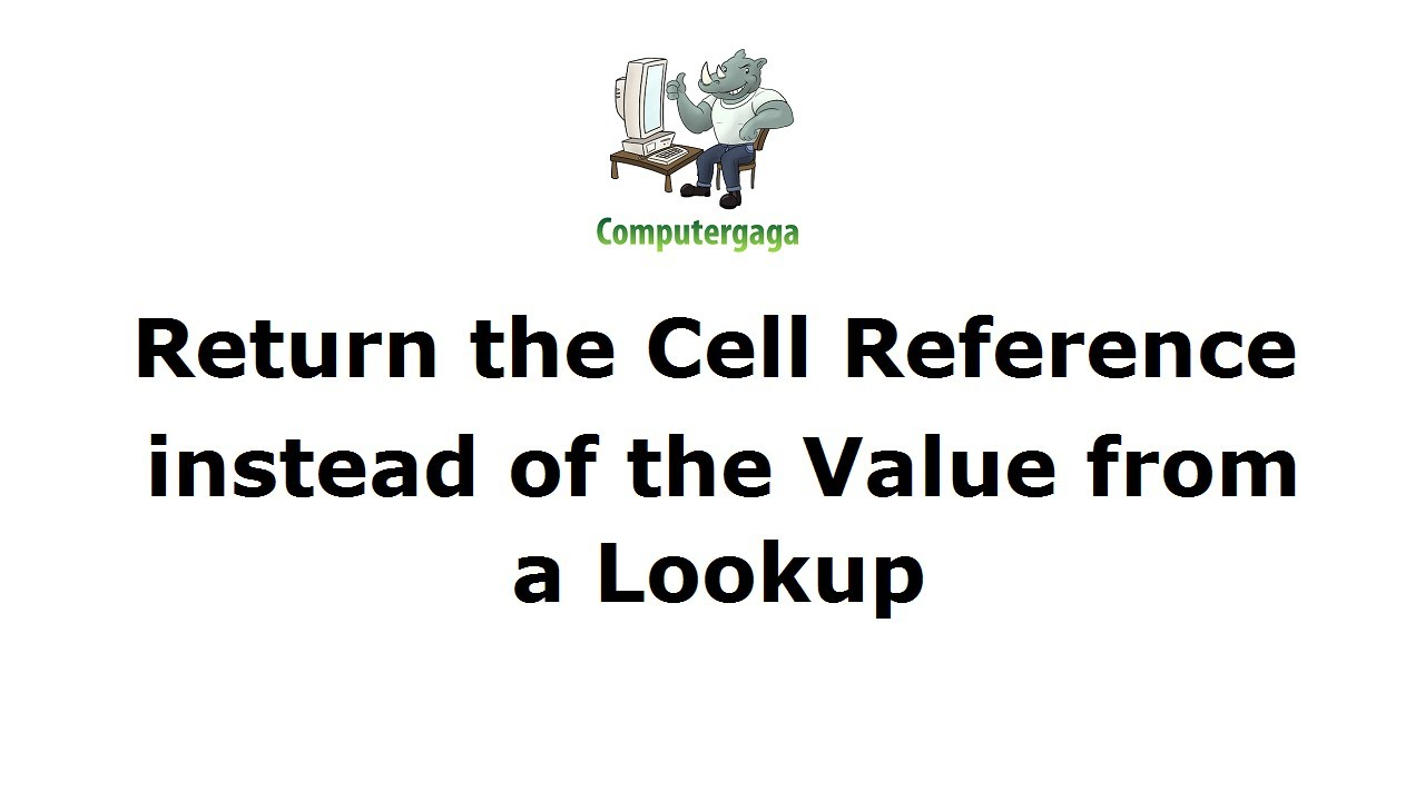 Find the Cell Address of a Value | Online Excel tutorials