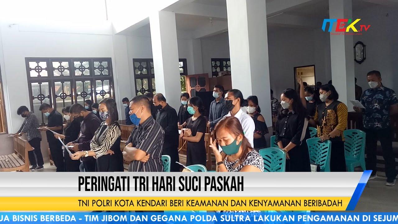 TNI Polri Kota Kendari Beri Keamanan dan Kenyamanan Beribadah