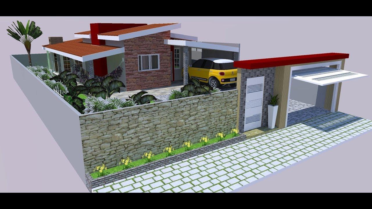 Casa pequena moderna terreno 10x20 com rea gourmet e - Terreno con casa ...