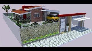 Casa Pequena Moderna Terreno 10X20 com Área Gourmet e