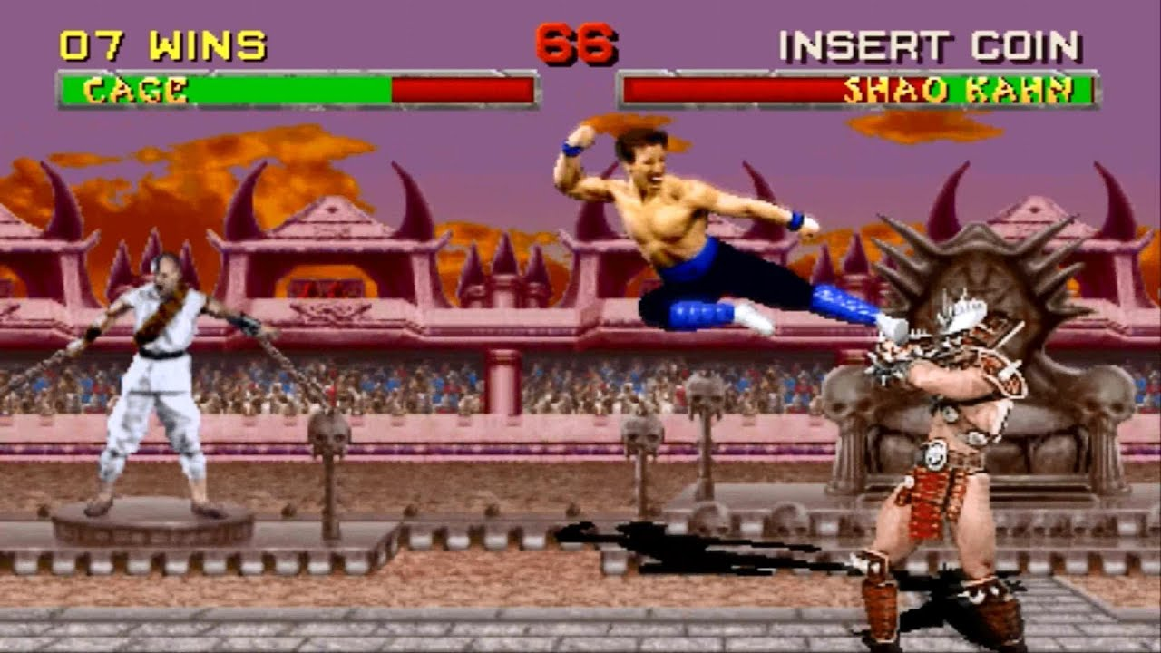 Mortal Kombat 2 arcade Johnny Cage Gameplay Playthrough - YouTube