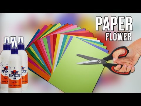 DIY Easy Paper Flowers | Flower Making | How to make flower using  paper
