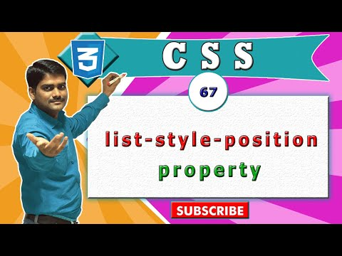 CSS video tutorial - 67 - CSS list style position property vs HTML ul tag