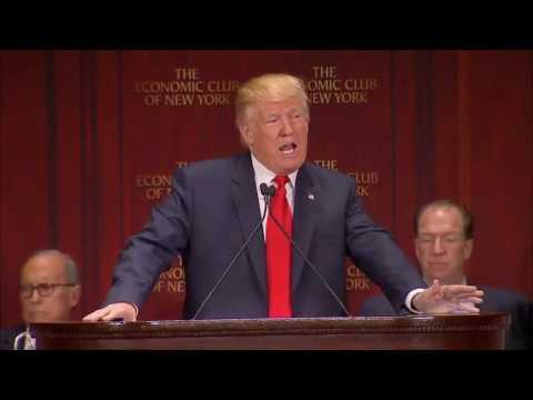 Donald Trump full speech on economic policy to The Economic Club Of New York 9/15/16