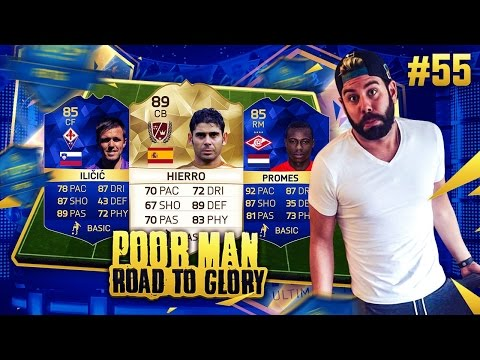 OMG 4 TOTS and 1 LEGEND SQUAD BUILDER!!!! - POOR MAN RTG #55 - FIFA 16 Ultimate Team