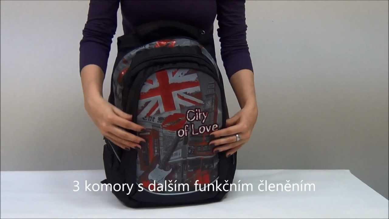 Školní batoh Walker Fun City of Love - YouTube 55cf2c6bfa