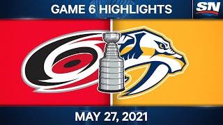 NHL Game Highlights   Hurricanes vs. Predators, Game 6 - May 27, 2021