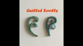 Scrolls | Quilled Scrolls | Beginners Guide to Quilling | Video by Arti Mehta @Creativity and more