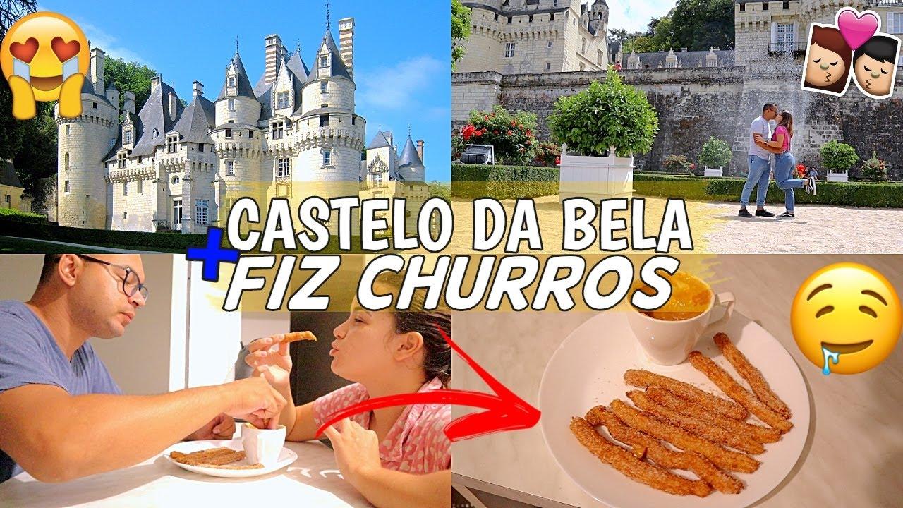 FOMOS NO CASTELO VERDADEIRO DA BELA ADORMECIDA + FIZ CHURROS ♥ - Bruna Paula
