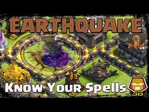 Clash Of Clans: How To Use The Earthquake Spell | Basics And Pro Tips