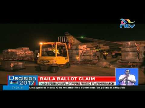 Nasa leader Raila Odinga claims ballot papers were printed in Kenya