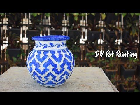 DIY Pot Painting   Hobby Ideas India
