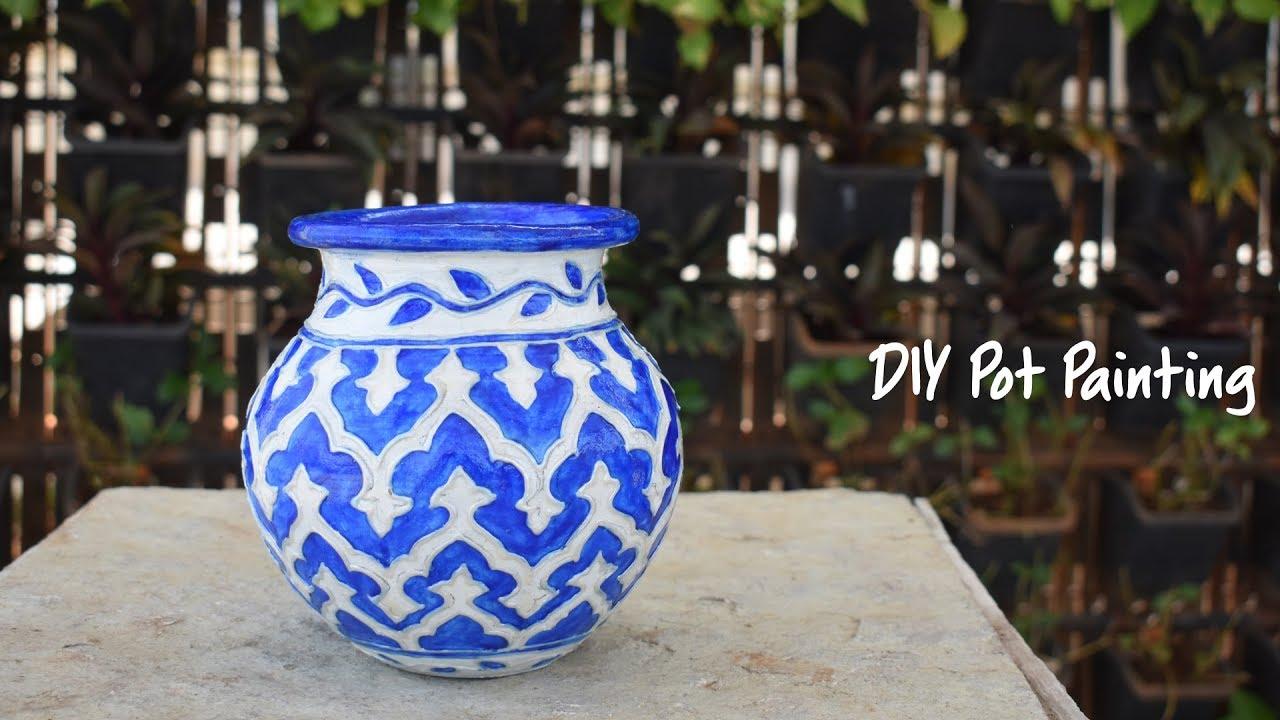 Diy Pot Painting Hobby Ideas India Youtube