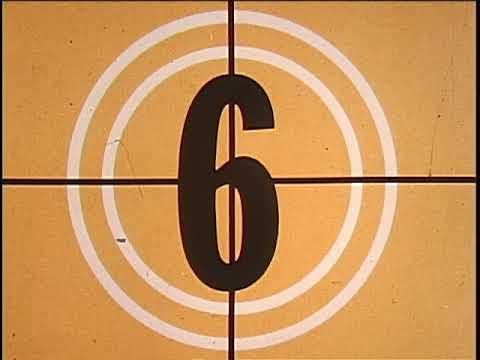 16mm Film Leader Countdown Compilation