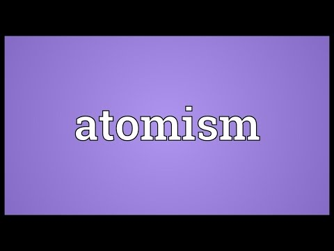 Atomism Meaning