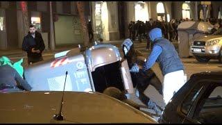 Vandalismo en Barcelona contra la Operación Pandora