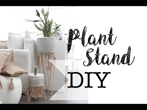 Plant Stand DIY Jute String Macrame | Kmart Plant Stand Hack