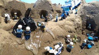 LEGO DAM BREACH AND SECRET LEGO POLICE BASE Video