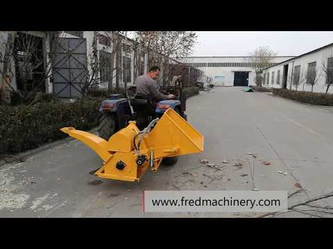 Tractor PTO Drum wood chipper