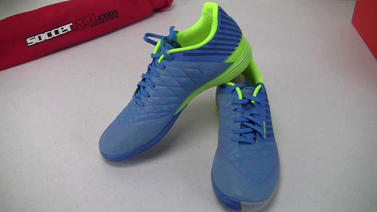 separation shoes 4f339 edd0a Nike FC247 Lunargato II Indoor Soccer Shoes - Blue with Lime Video Review -  SoccerPro.com - YouTube