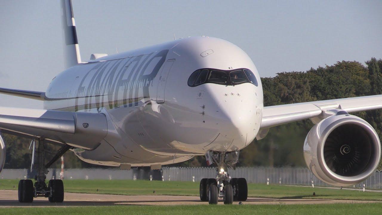 ᴴᴰ ✈ Finnair A350 XWB - First Flight to Germany
